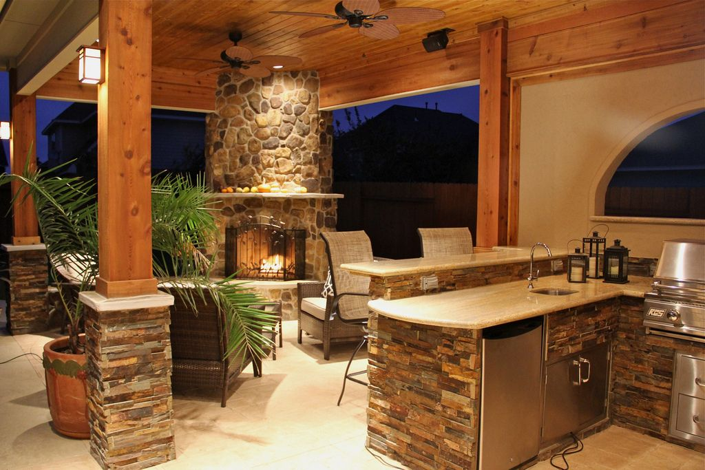Amazing Outdoor Kitchens - Style Estate - #outdoorLiving outdoor - outside kitchen ideas