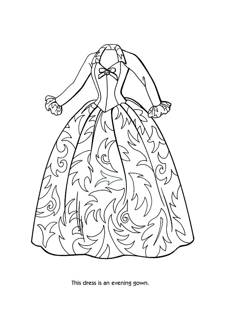 Victorian coloring pages of women s dress coloring pages 36 barbie fashion