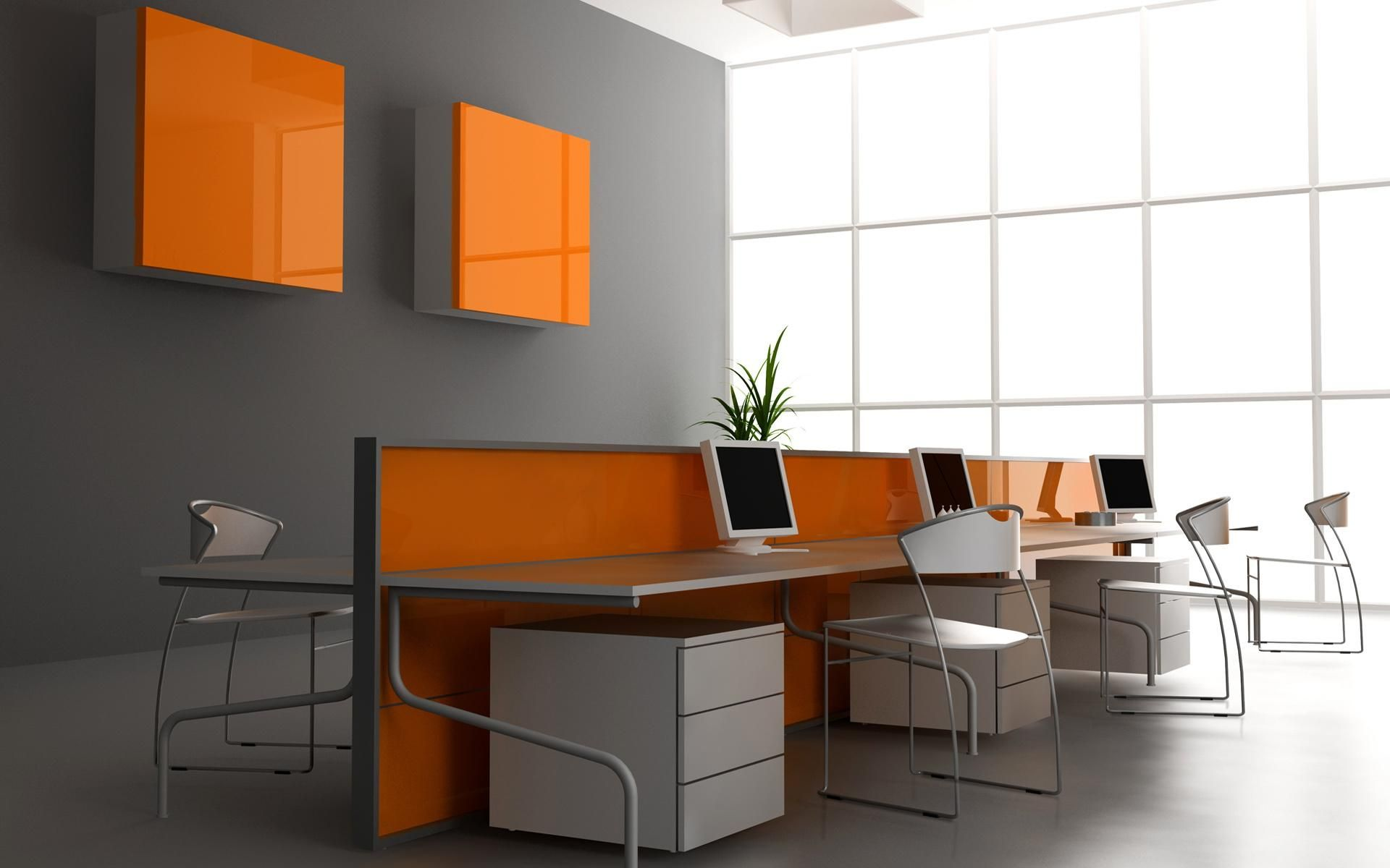 Modern Office Color Schemes Stylish Grey Wall Color For Modern Office Interior What