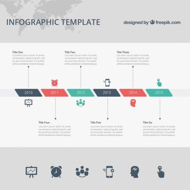 Template infográfico Timeline Template, Templates and Timeline - simple timeline template