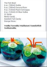 Fish bowl party alcoholic drink for a summer themed party ...