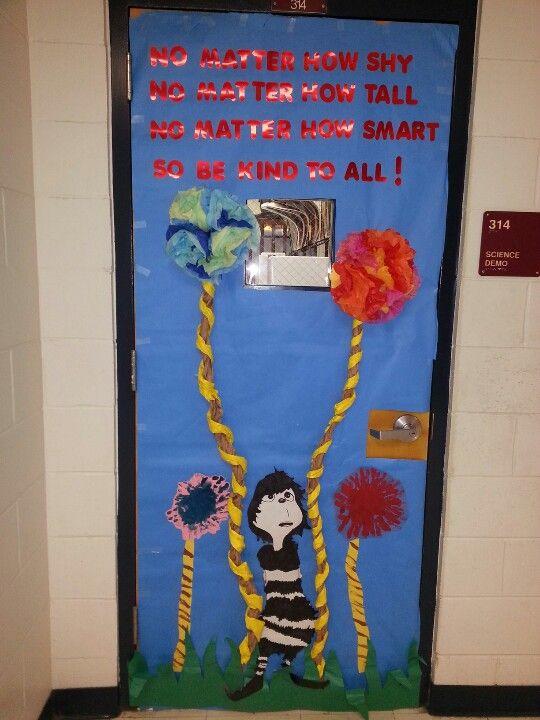 Anti bullying door