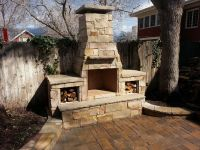 outdoor fireplaces off of chimneys from indoor fireplaces ...