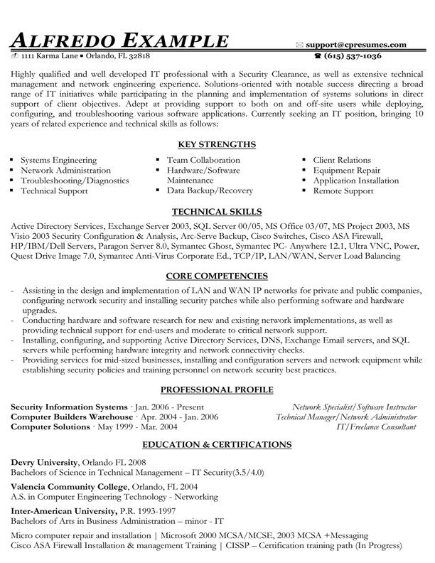 IT Functional Resume Sample Good To Know Pinterest - functional resume example
