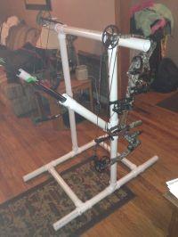 PVC target bow stand w/ arrow holder archery rack DIY ...
