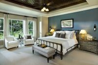 "Traditional Master Bedroom with 42"" Casa Vieja Crossroad ..."