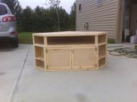 How to Build Your Own DIY Corner TV Stand | Things For My ...