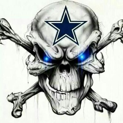 Dallas Cowboys Skull | Theres a star on the field because we are one! | Pinterest