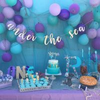 Under the Sea Party, Mermaid Party, Sea Party Banner ...