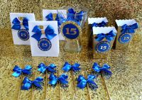 Sweet 16 Party,Quinceaera Party, Royal Blue and gold ...