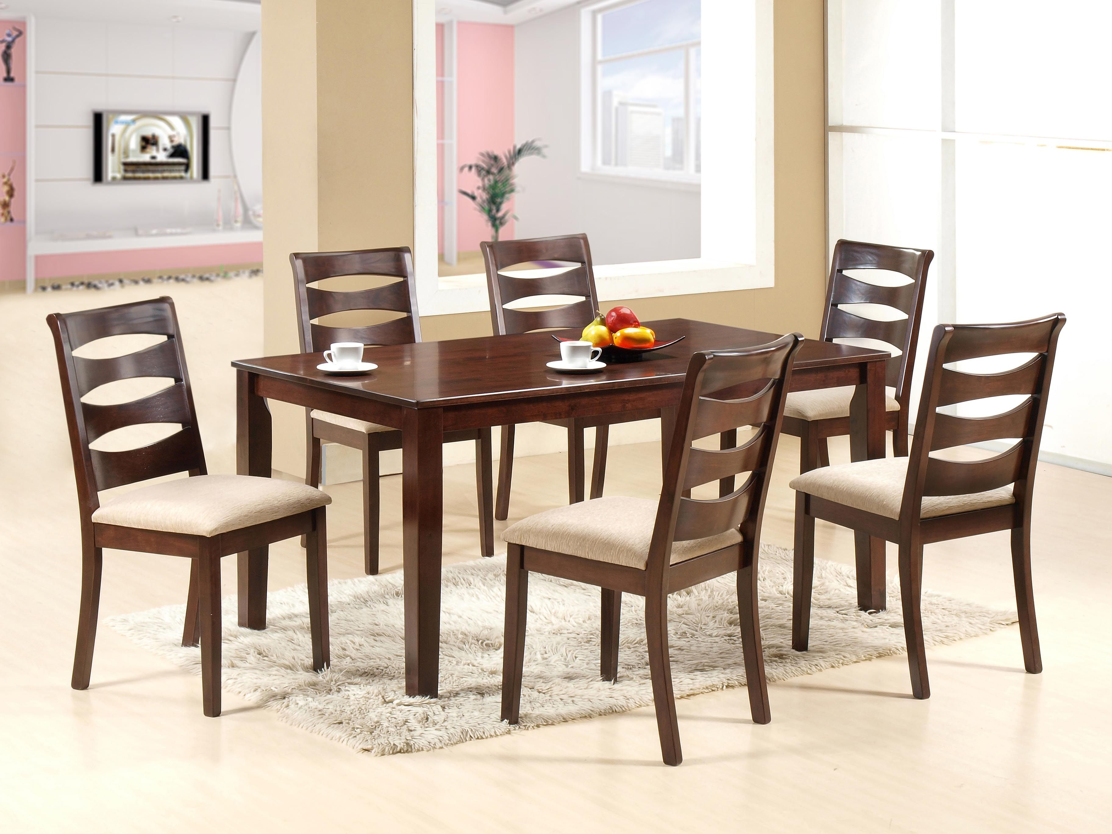 New sandy dining set this dining table s simple sleek design enables it to perfectly