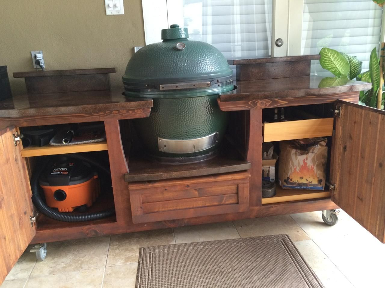 Outdoor Küche Green Egg Morgan Design Big Green Egg Table W Plenty Of Storage And