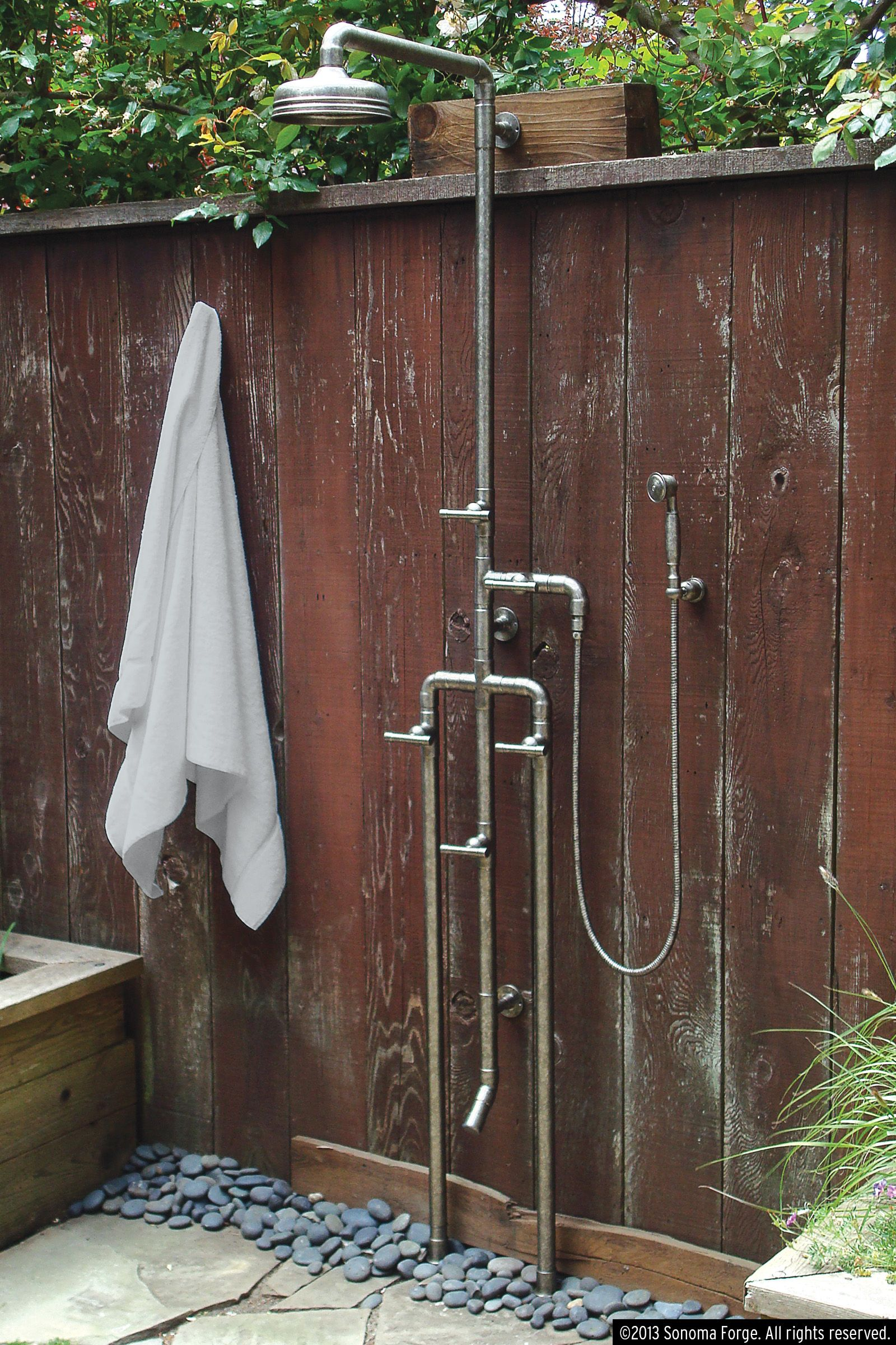 Industrial Outdoor Shower High Low Rugged Outdoor Shower Happy Marriage