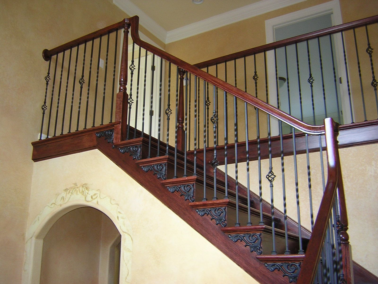 forged iron stair railings