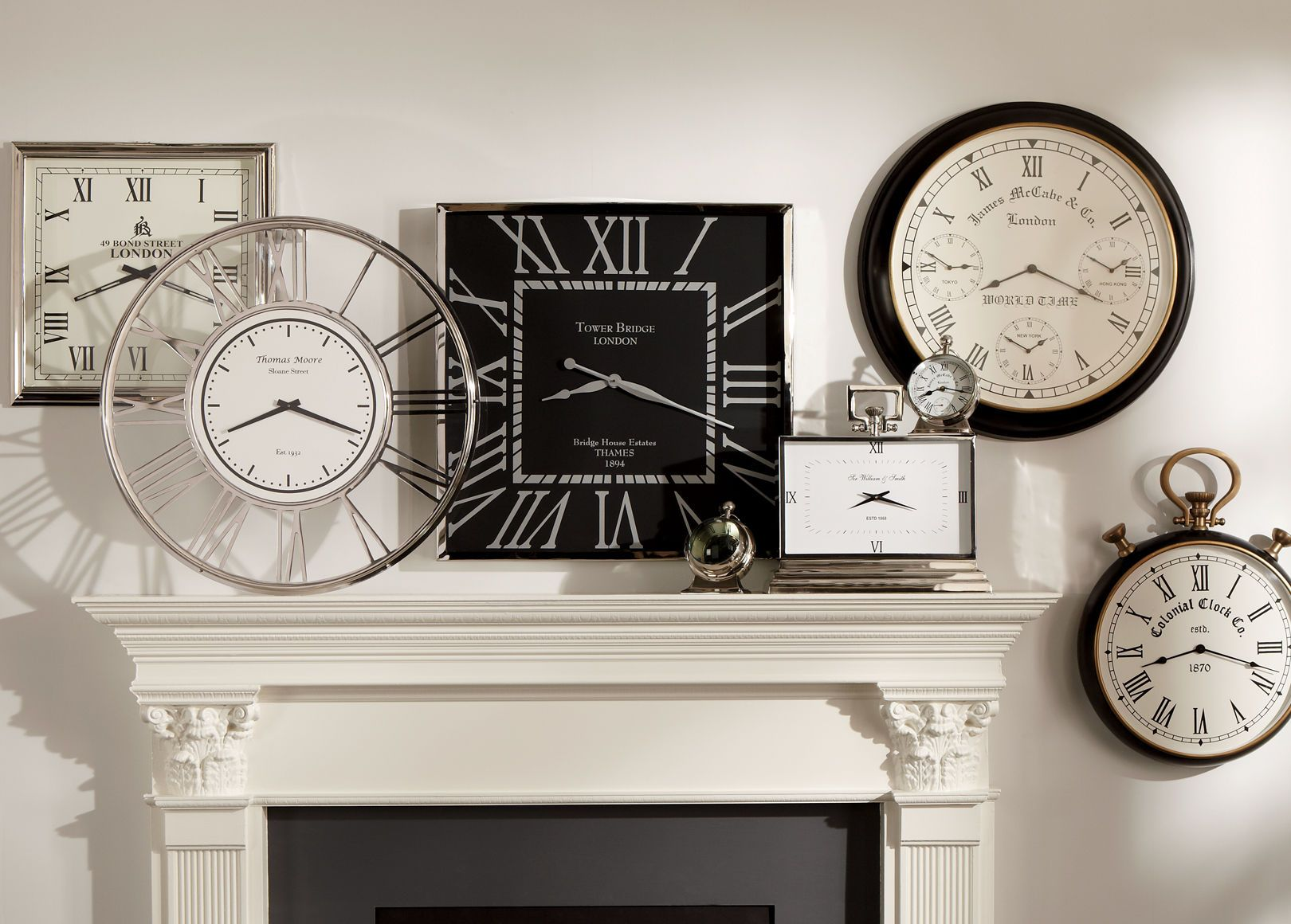 Where To Hang Wall Clock In Living Room Nickel And Black Wall Clock Ethan Allen Living Room