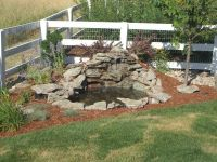 Garden and Patio, Small DIY Ponds With Waterfall And Stone