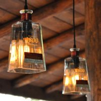 Recycled 1800 Tequila Bottle Pendant Lamps | Tequila ...