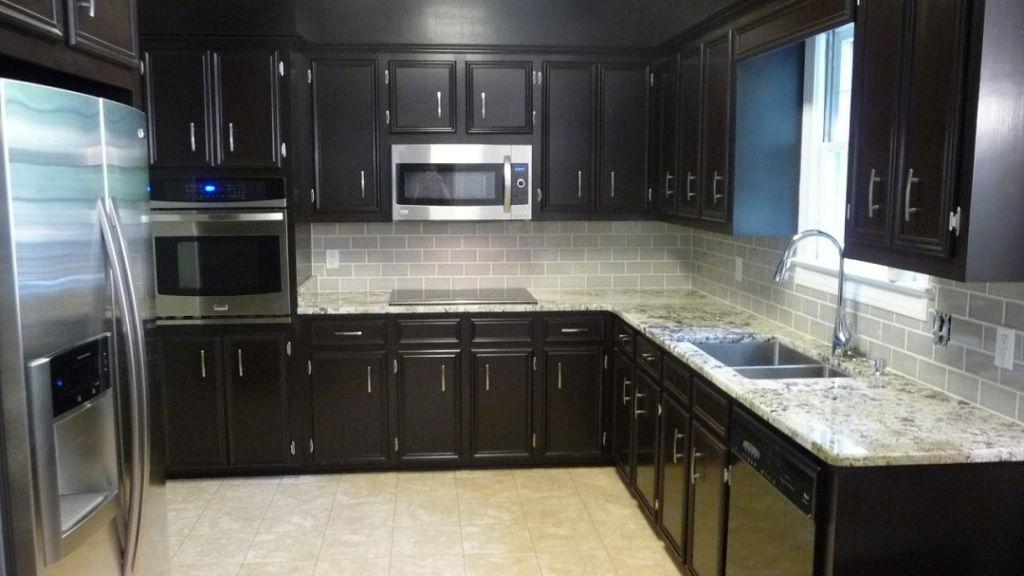 Sienna Beige Granite Dark Cabinets u2013 Backsplash Ideas Kitchen - kitchen backsplash ideas for dark cabinets