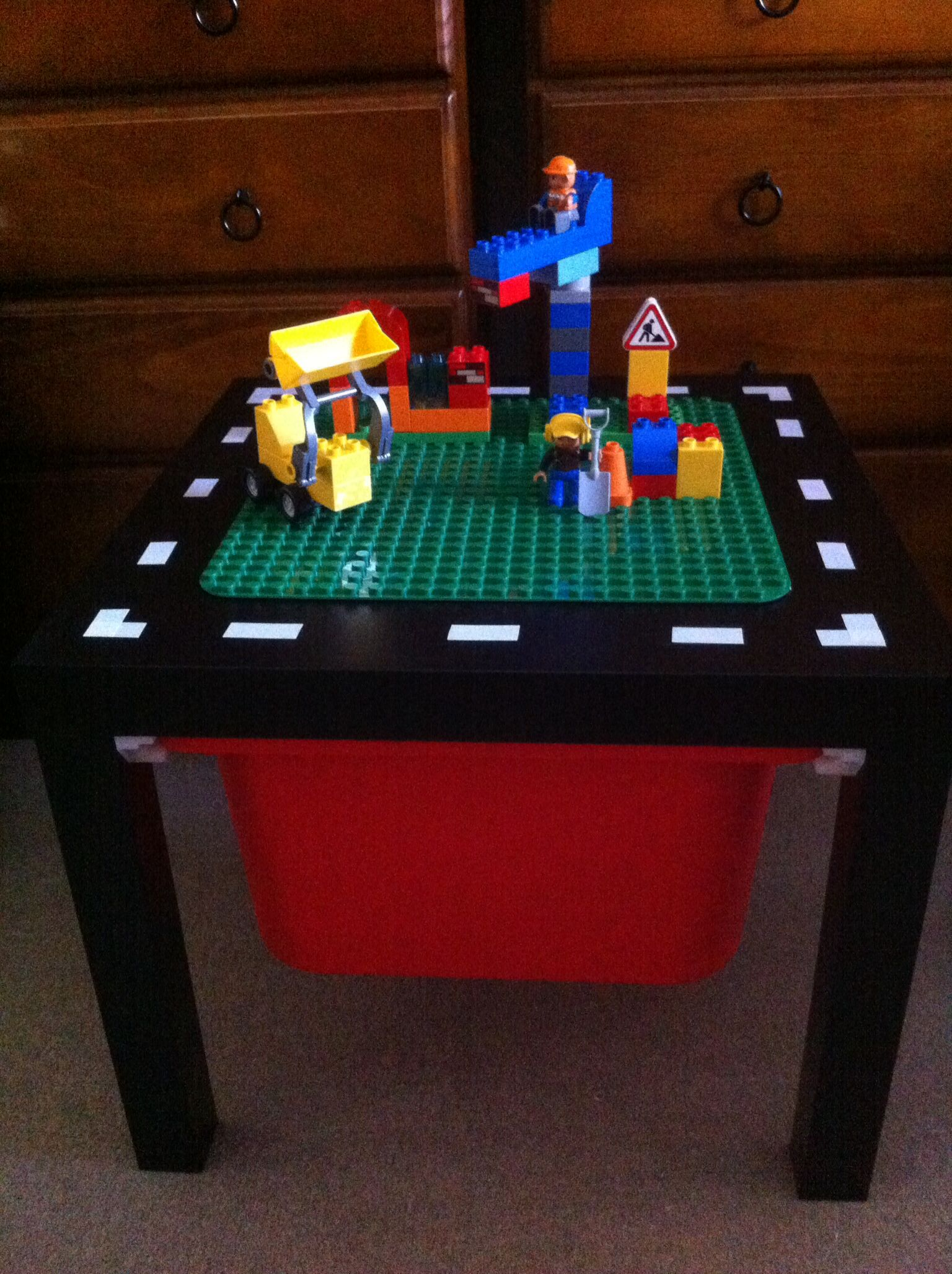 Lego Tisch Ikea Ikea Hack Lack Duplo Table I Used Electrical Tape For The