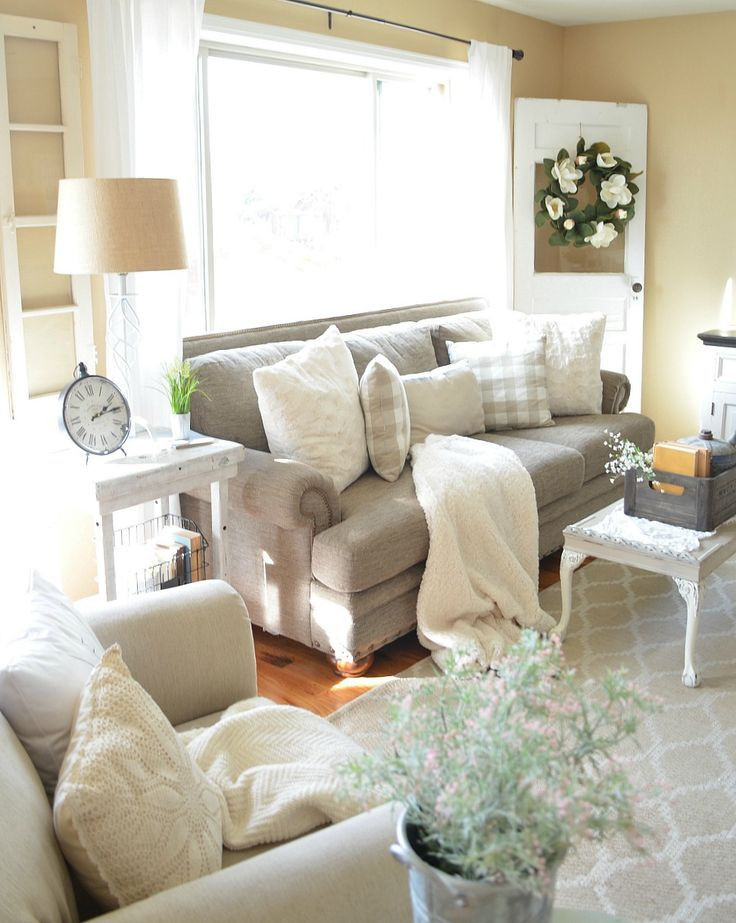 Refreshed Modern Farmhouse Living Room Farmhouse living rooms - farmhouse living room furniture