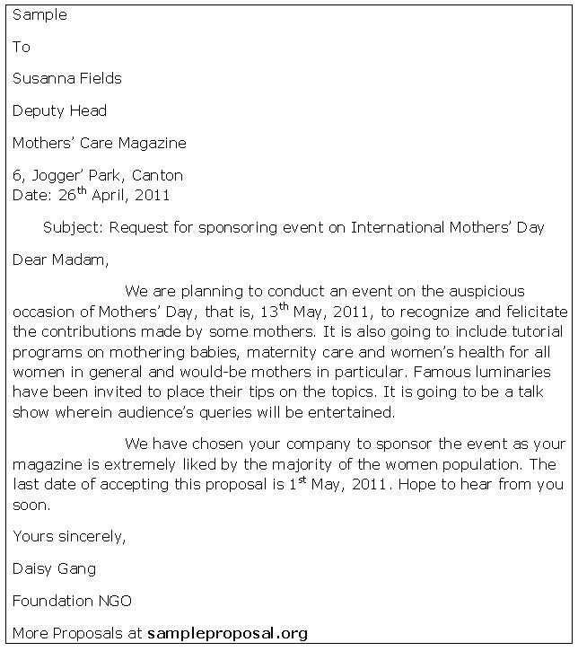 Write Event Proposal Letter - http\/\/wwwresumecareerinfo\/write - event proposal letters