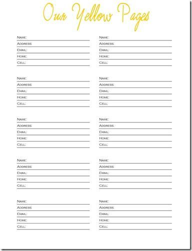 free printable templates phone numbers free printable, contact - contact list template