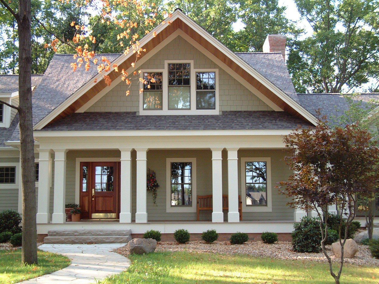 Farmhouse Exterior Colors With Metal Roof New Custom Home Shingle Style Craftsman Style House Plan