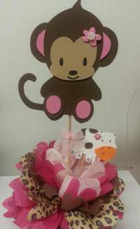 Monkey Baby Shower Table Decorations | Monkey (Jacanda ...