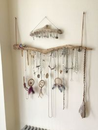 Driftwood Jewelry Organizer Wall Hanging Necklace Holder ...