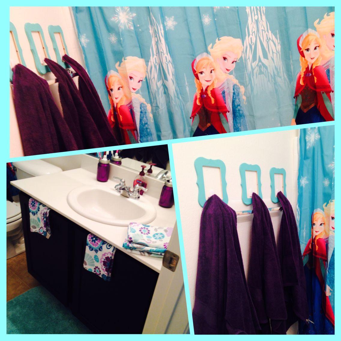 Disney frozen bathroom decor