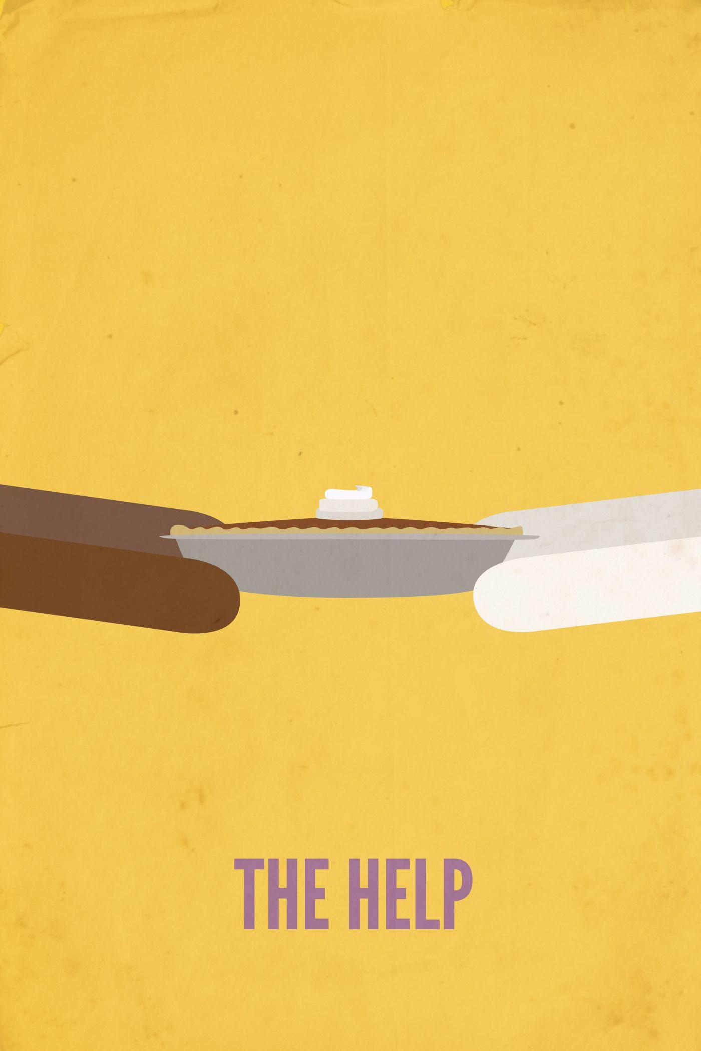 The help minimalist movie poster design graphic design via rebekahjm com
