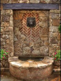 wall stone cool backyard fountains : Great Addition Cool ...