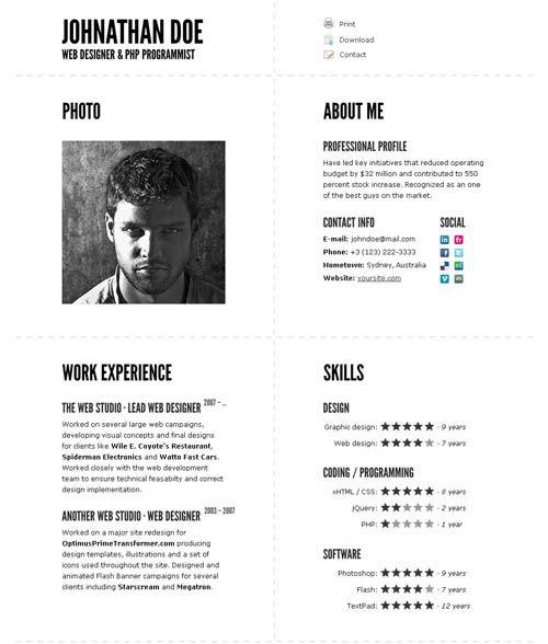 Typographic CV u2013 impressive resume template Typographic CV is - amazing resume templates