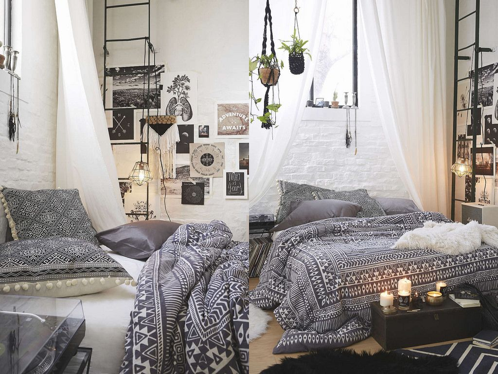 Bedroom Ideas Urban Outfitters Bohemian Comforter With Interior Design Style Kitsch