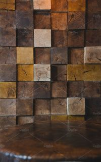 Modern Wood Texture on Wall in Cafe by Pro.Motion on