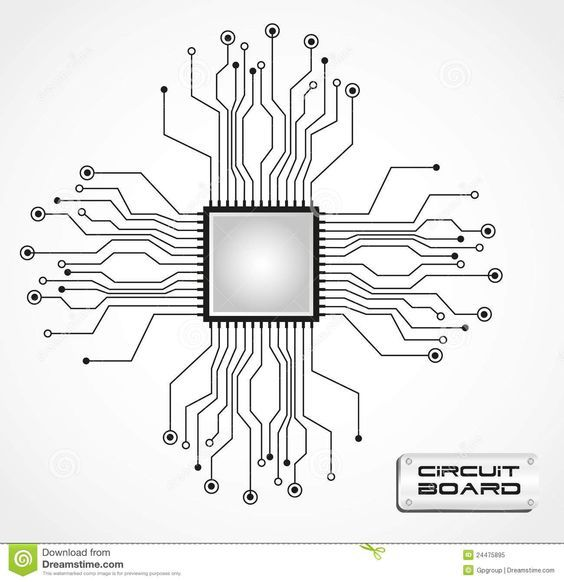 circuit board website layout in photoshop