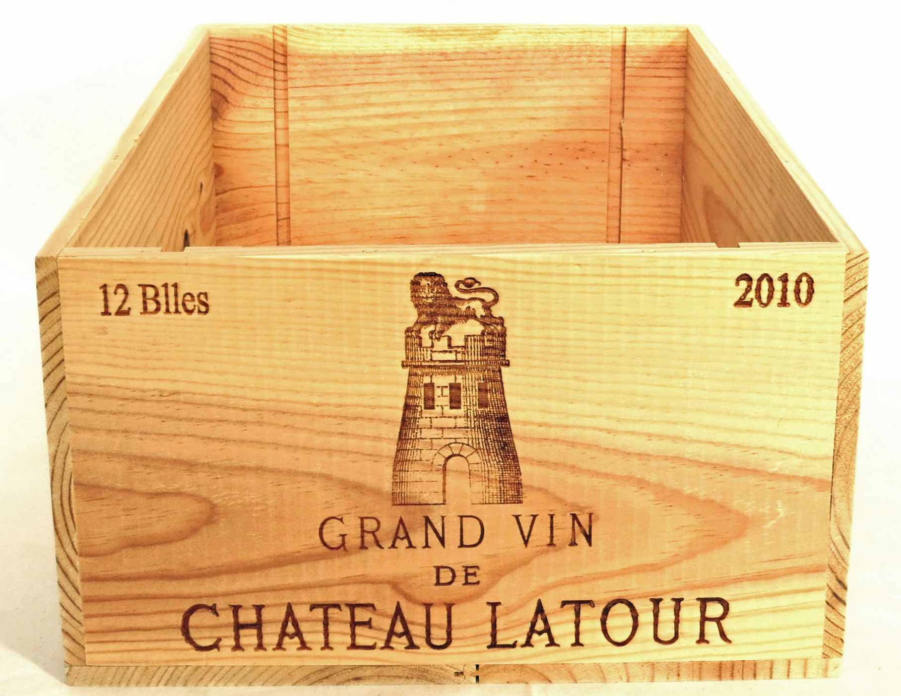 Timber Crates For Sale Authentic 2010 Chateau Latour Wooden Wine Crate Without