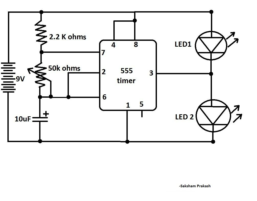 variable led intensity controller circuit electronic circuit