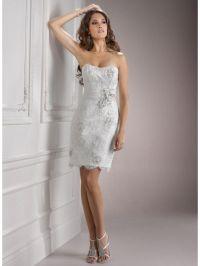 Fashionable Short White Wedding Dresses : Casual Short ...
