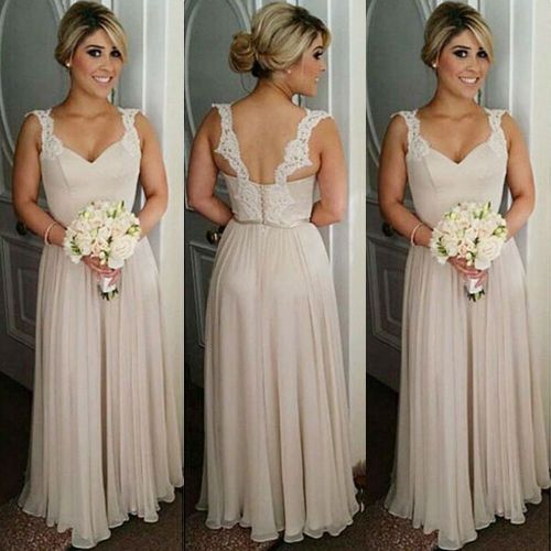 Medium Crop Of Champagne Bridesmaid Dresses