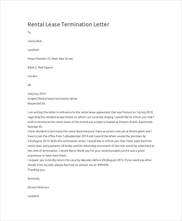 free new york lease termination letter form days pdf word eforms - sample lease termination letter
