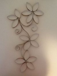 Toilet paper roll wall art | toilet paper roll crafts ...