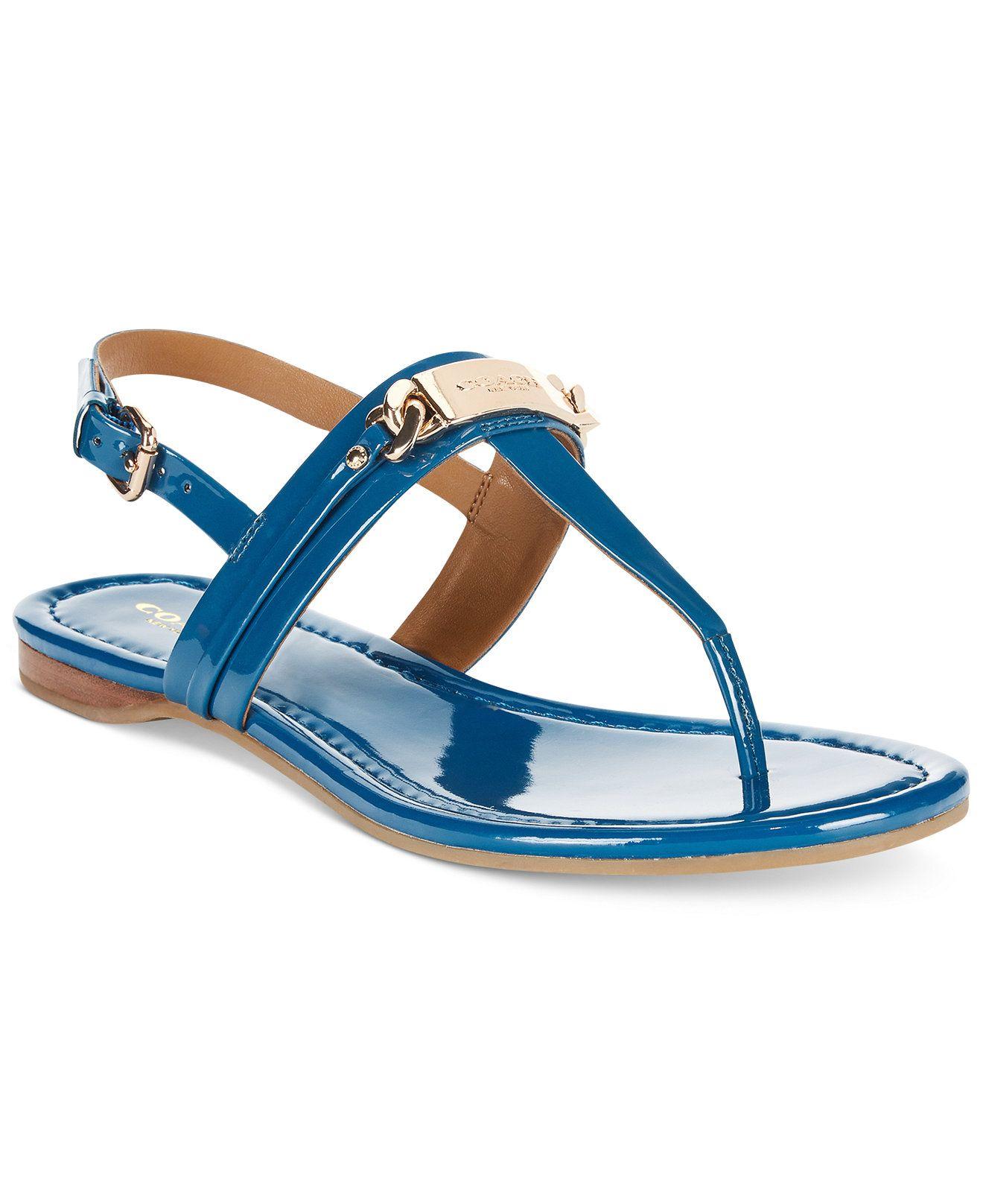Coach caterine logo hardware flat sandals coach shoes handbags accessories macy s