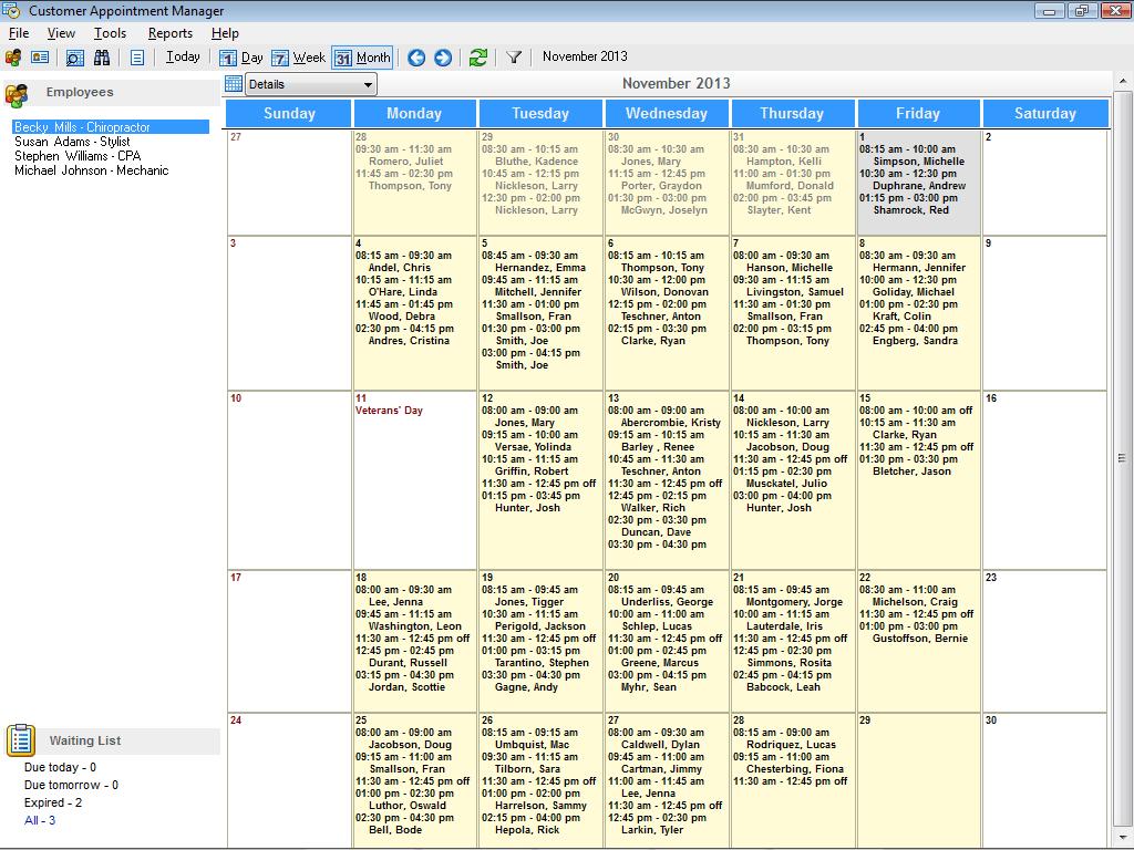 monthly scheduling calendar template