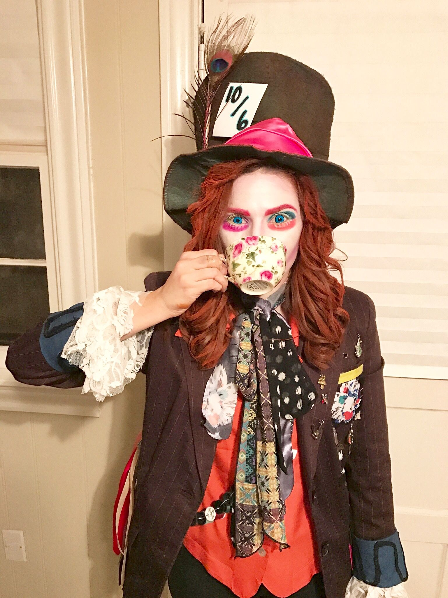 Diy Kostüm Damen Mad Hatter Costume Diy Jacket Diy Hat Makeup Halloween