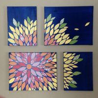 DIY Multi-Canvas Paper Wall Flower Art on 16x20 and 12x16 ...