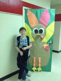 Turkey door decoration for Thanksgiving | doors ...
