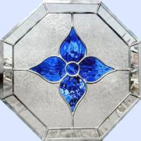 OCTAGON BLUE LEADED STAINED GLASS WINDOW | Home Furnishing ...
