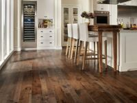 Enticing Dark Stained Hickory Wood Kitchen Flooring ...