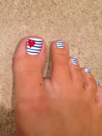 17 Fourth of July Toe Nail Designs for Summer | Toe nail ...